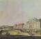 """Zurück in die Vergangenheit: Ackerland nahe der Kurfürstenallee.   """"Redoute und Kurfürstenallee 1792"""" (Kupferstich von Johann Ziegler nach Aquarell von Laurenz Janscha)"""