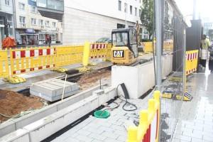 Derzeit finden Grabungsarbeiten vor Ort statt