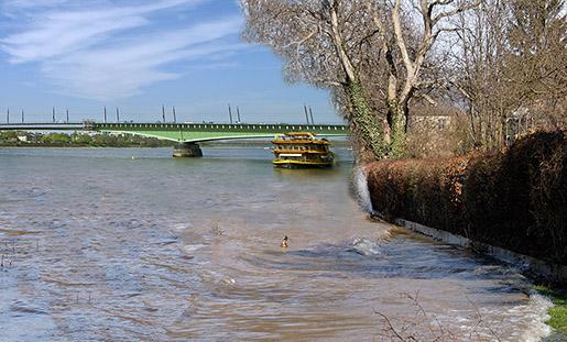 Endlich ruhig: Das neugestaltete Rheinufer in Beuel